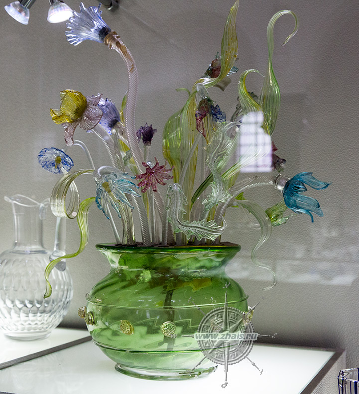 Цветы из стекла гусь хрустальный купить